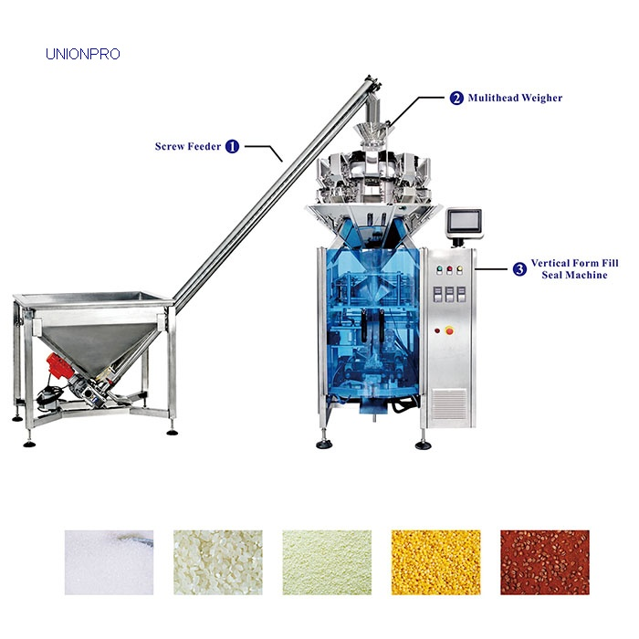 Combined Weighing and Packaging Machine with Screw Feeder