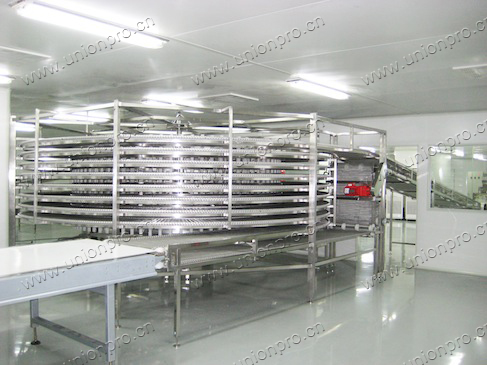 spiral conveyor for cooling or transporting