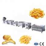 Semi-Automatic Frozen French Fries Chips Production Line
